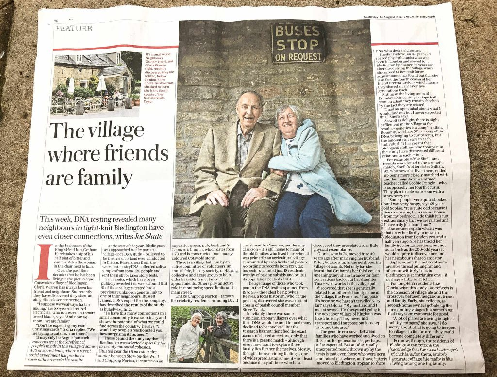 Bledington - The Village where friends are Family